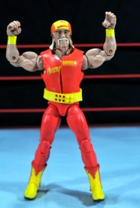 Hulk Hogan Hall of Fame figure -wide shot arms up