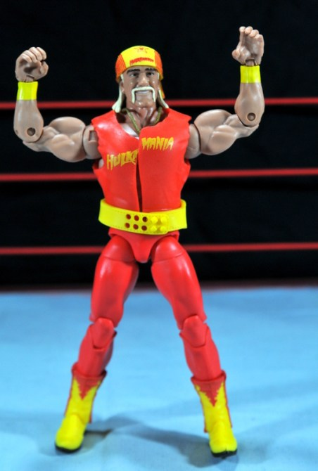 Hulk Hogan Hall of Fame figure -wide shot arms up
