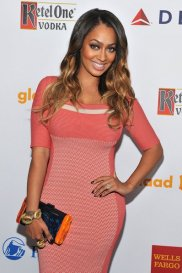 La La Anthony -pink dress