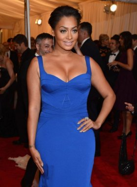 La La Anthony - tight blue dress