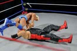 Ric Flair Defining Moments figure review - high knee on Vader