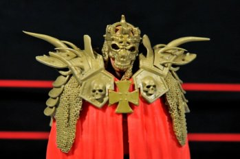Triple H WWE Mattel Elite 35 - cloak mask closeup