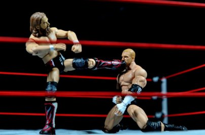 Triple H WWE Mattel Elite 35 - Daniel Bryan kicking Triple H