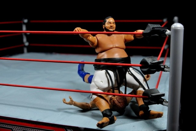 Yokozuna figure review Hall of Fame - Banzai drop wide
