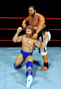 Yokozuna figure review Hall of Fame - nerve pinch Hacksaw Duggan