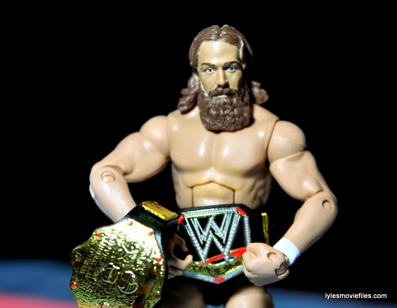 Daniel Bryan Mattel figure review - with WWE and world title belts