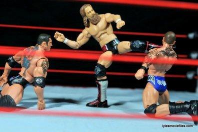 Daniel Bryan Mattel figure review - kicking Batista and Randy Orton