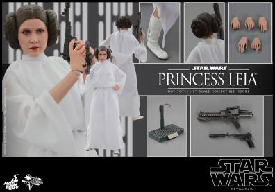 Hot Toys Star Wars Princess Leia -collage