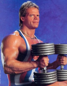 Lex Luger with weights