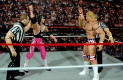 Lex Luger WWE Mattel Elite 30 figure - Bret Hart and Lex Luger are co-winners