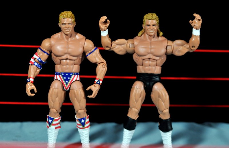 Lex Luger WWE Mattel Elite 30 figure -custom NWA Luger and short hair Elite 30