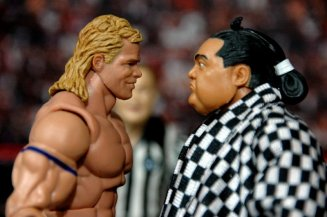 Lex Luger WWE Mattel Elite 30 figure -face to face with Yokozuna