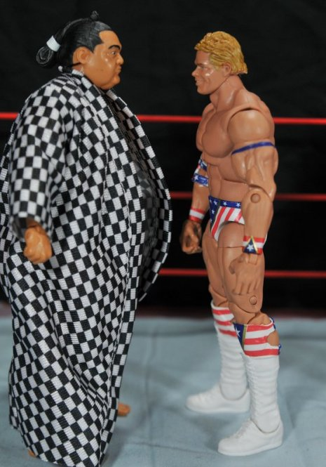 Lex Luger WWE Mattel Elite 30 figure -get ready to fight Yokozuna