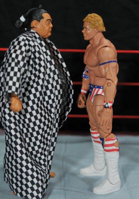 Lex Luger WWE Mattel Elite 30 figure -get ready to fight Yokozuna