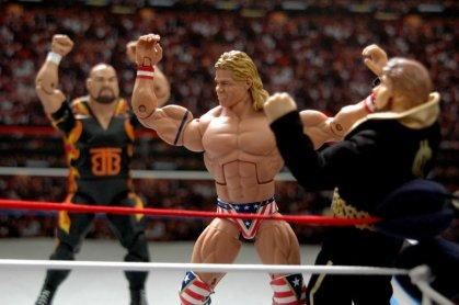 Lex Luger WWE Mattel Elite 30 figure - grabbing Ted DiBiase