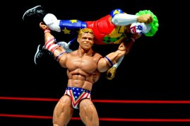 Lex Luger WWE Mattel Elite 30 figure -press slam Doink the Clown