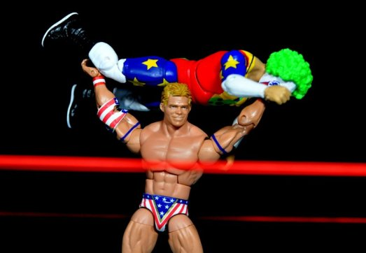 Lex Luger WWE Mattel Elite 30 figure - press slam Doink