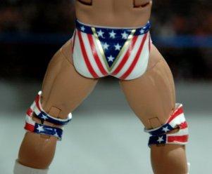Lex Luger WWE Mattel Elite 30 figure -rear paint tights detail