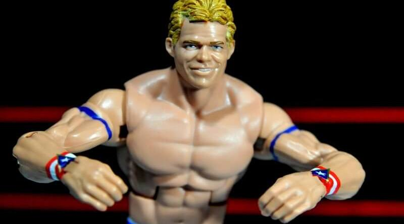 Lex Luger WWE Mattel Elite 30 figure - wide pose crab pose