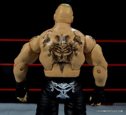 Mattel Brock Lesnar WWE figure - back tattoo