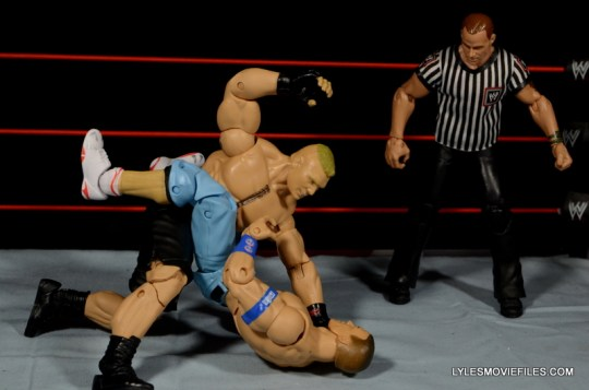 Mattel Brock Lesnar WWE figure - beating down John Cena