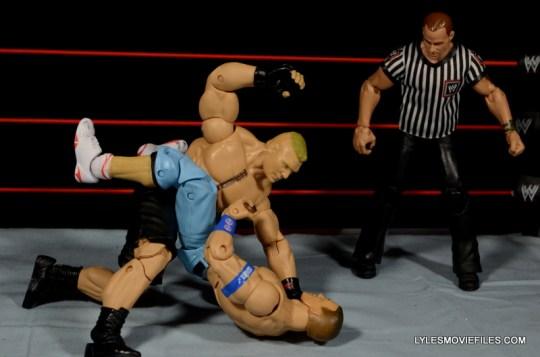 Mattel Brock Lesnar WWE figure - beating down John Cena