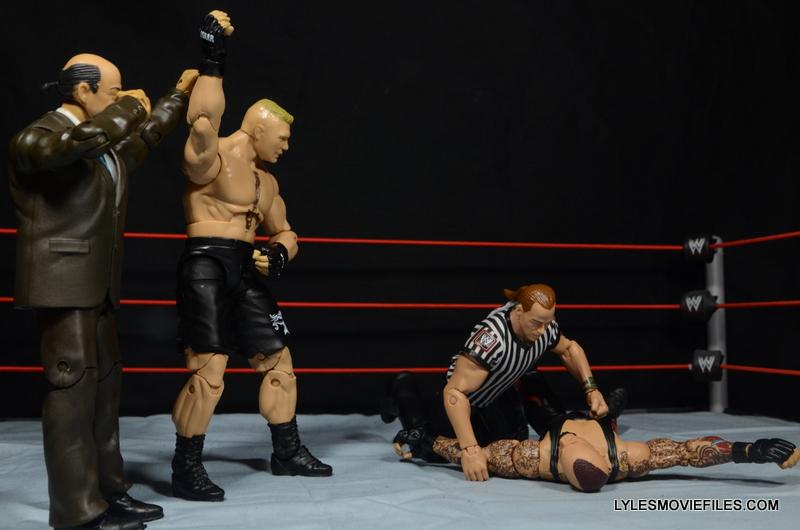 Mattel Brock Lesnar WWE figure - beating Undertaker