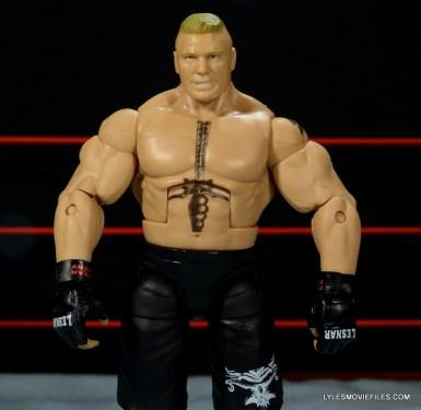 Mattel Brock Lesnar WWE figure - front detail