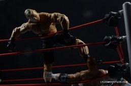 Mattel Brock Lesnar WWE figure - kicking Triple H in a corner