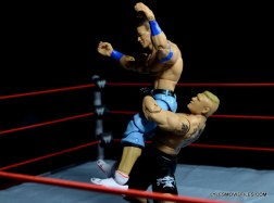 Mattel Brock Lesnar WWE figure - overhead throw.