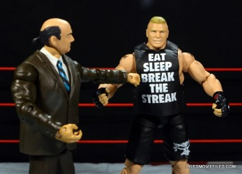 Mattel Brock Lesnar WWE figure - Paul Heyman reads off shirt