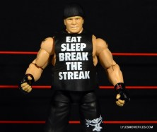 Mattel Brock Lesnar WWE figure - shirt close up
