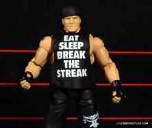 Mattel Brock Lesnar WWE figure - shirt close up