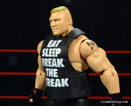 Mattel Brock Lesnar WWE figure - side with shirt on.