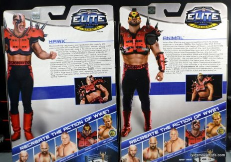 Mattel WWE Elite 30 Legion of Doom - card backs Hawk and Animal