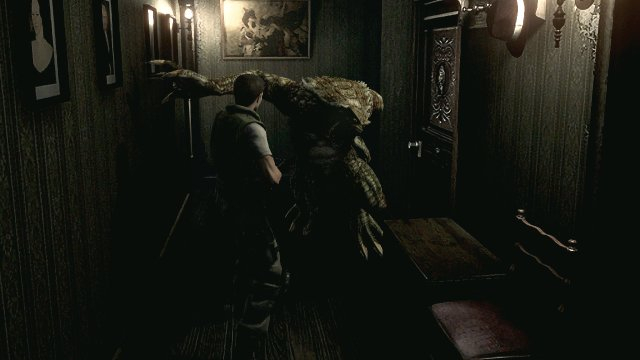 Resident Evil HD - Chris Redfield vs hunter
