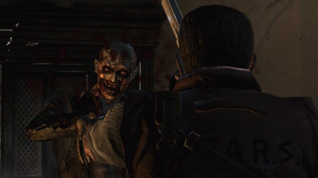 Resident Evil HD -close up zombie attack