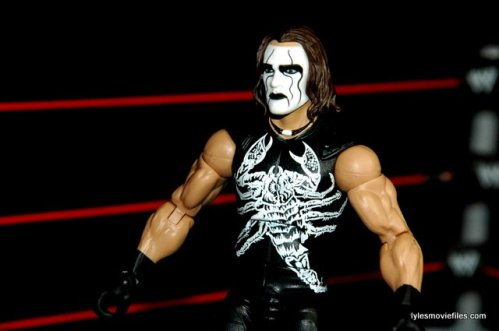 Sting figure WWE Mattel Defining Moments - closeup