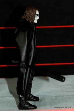 Sting figure WWE Mattel Defining Moments - holding bat right side