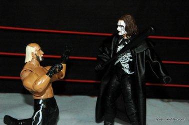 Sting figure WWE Mattel Defining Moments - making Hollywood Hogan beg off