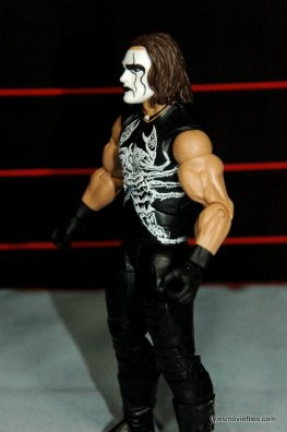 Sting figure WWE Mattel Defining Moments - right side detail