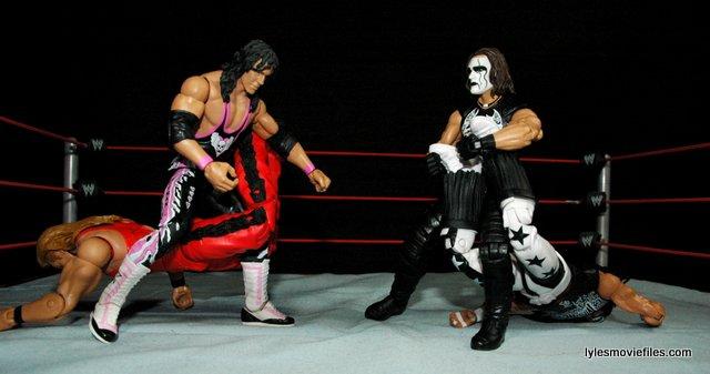 Sting figure WWE Mattel Defining Moments - Sharpshooter vs Scorpion Deathdrop on nWo