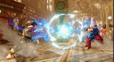 Street Fighter V - Ryu vs Ken fireball face off