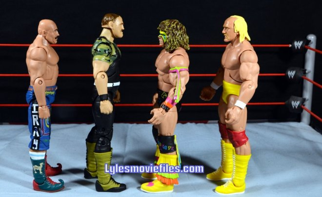 Sgt. Slaughter WWE Hall of Fame figure - Iron Sheik, Ultimate Warrior and Hulk Hogan scale