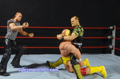Sgt. Slaughter WWE Hall of Fame figure - camel clutch to Hulk Hogan