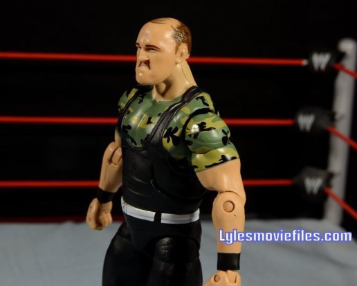 Sgt. Slaughter WWE Hall of Fame figure - close up right side