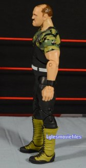 Sgt. Slaughter WWE Hall of Fame figure - left side detail