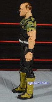 Sgt. Slaughter WWE Hall of Fame figure - left side detail