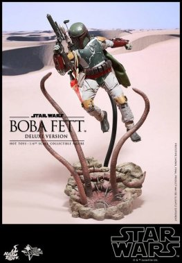 Boba Fett Hot Toys figure - fighting Sarlaac