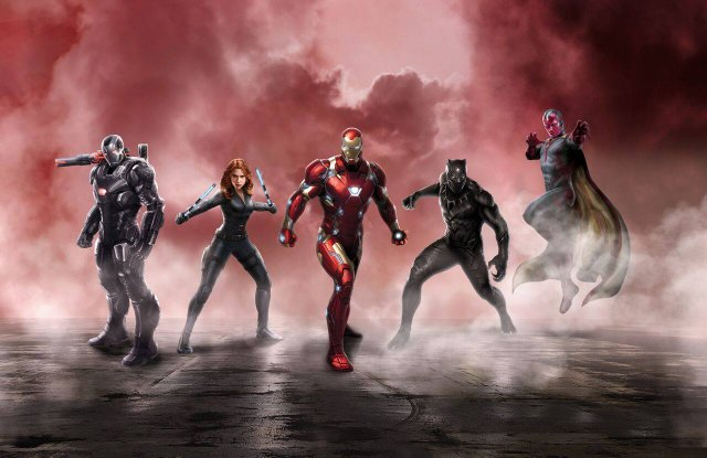 Captain America Civil War promo Iron Man team
